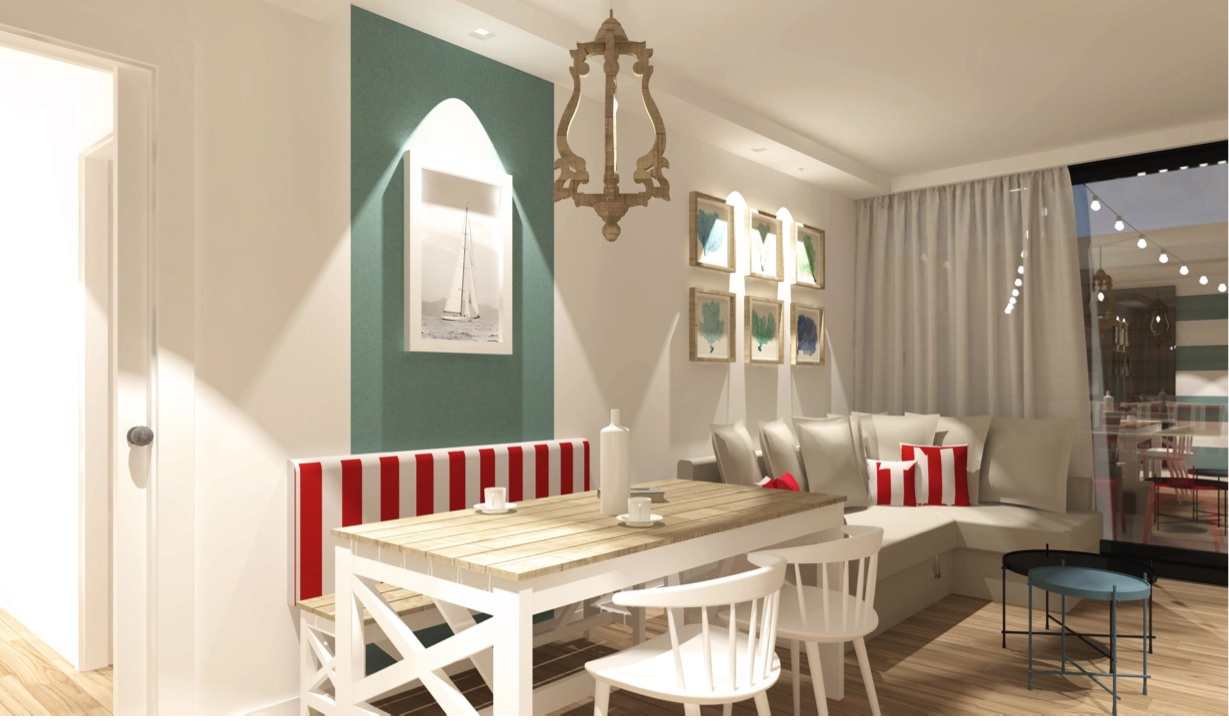 RICCIONE PORTO ,appartamento in affitto stagionale PIANO TERRA