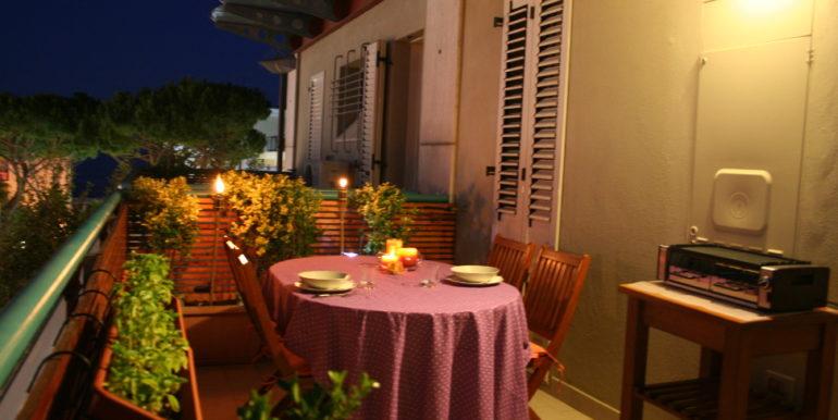 balcone di sera