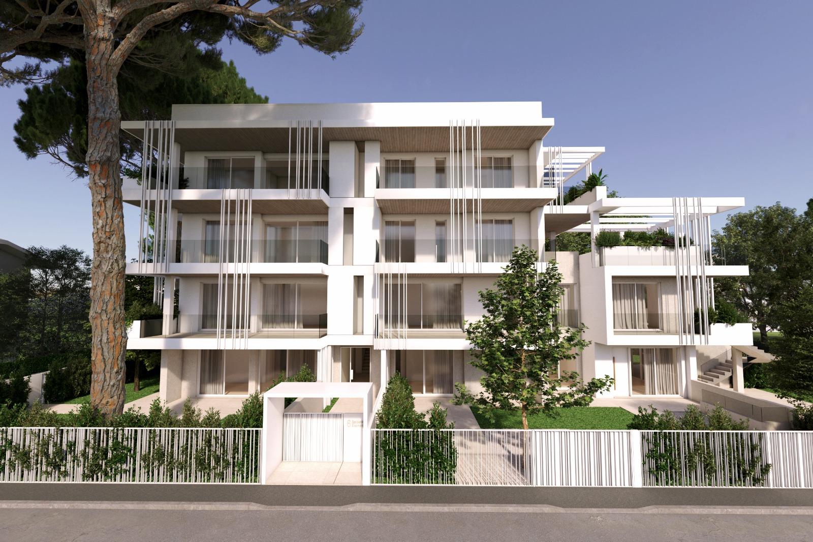 RICCIONE CENTRO, nuova costruzione di pregio app. con terrazzi in vendita