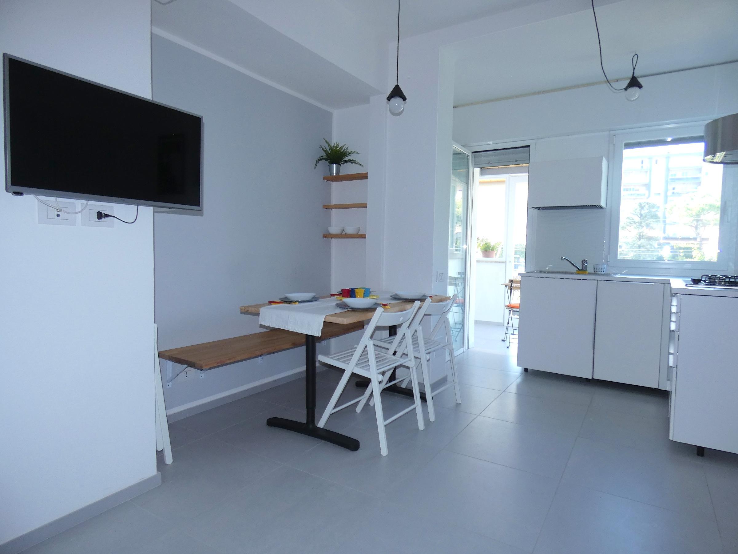 RICCIONE CENTRO – ABISSINIA, nuovissimo trilocale in affitto stagionale