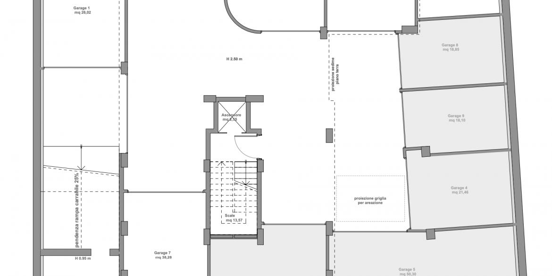 piano interrato garage